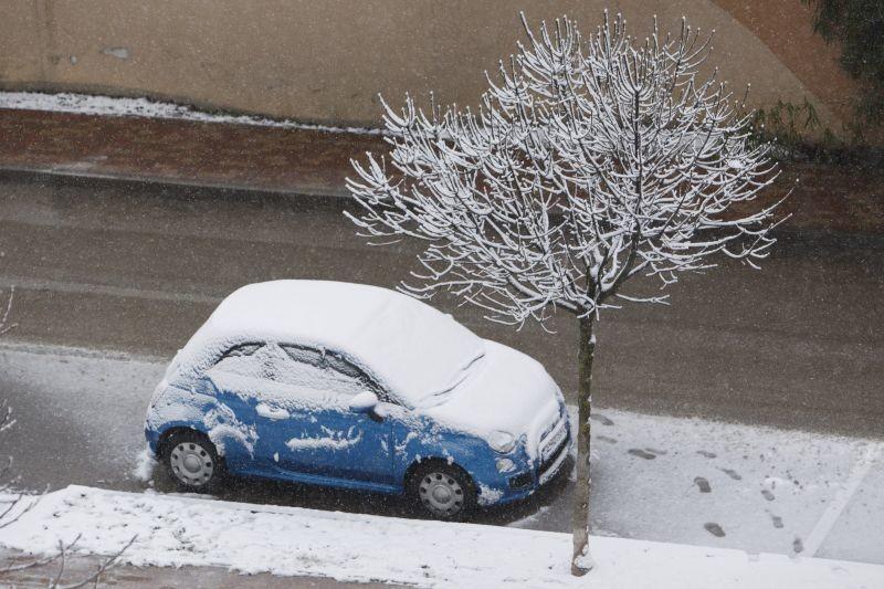 Havas autó Nagykanizsán 2018. február 20-án.