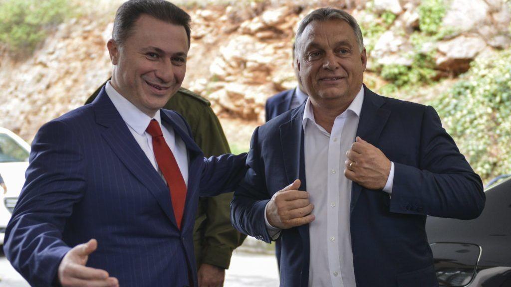 Nikola Gruevszki és Orbán Viktor 2017 szeptemberében.