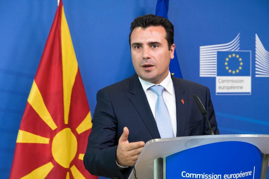 Zoran Zaev macedón kormányfő.