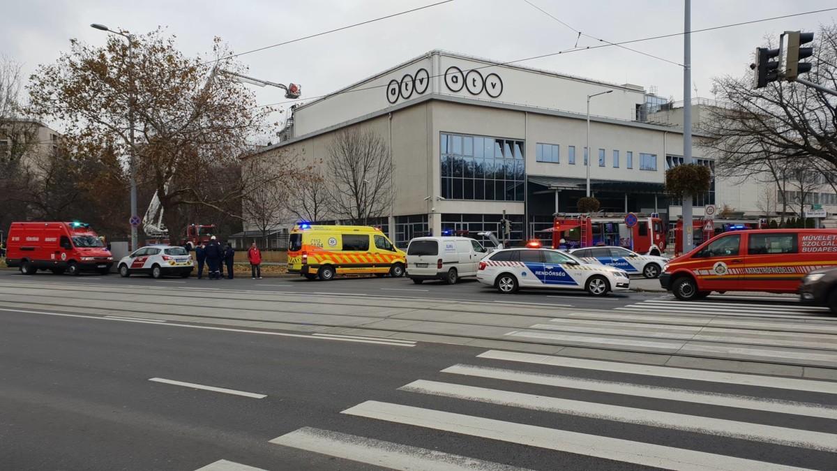 Nyomozást indítottak az ATV-székházban keletkezett tűz miatt