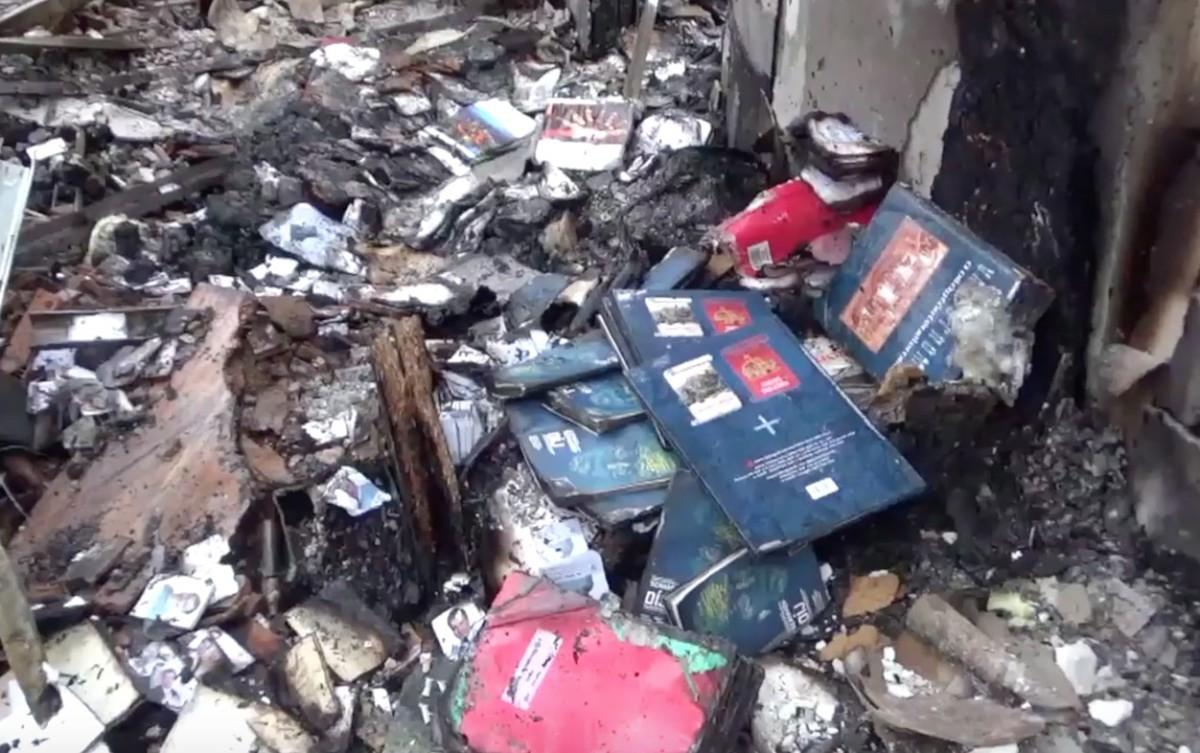 Videón Gyurcsányék leégett irodája