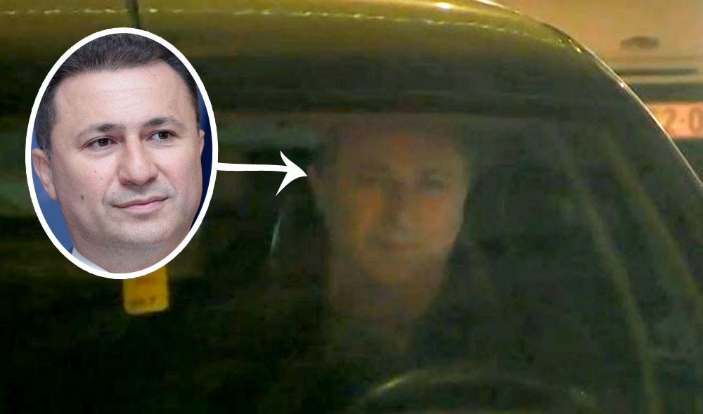 Albán lap: fotón, ahogy Gruevszki vezeti a magyar diplomataautót
