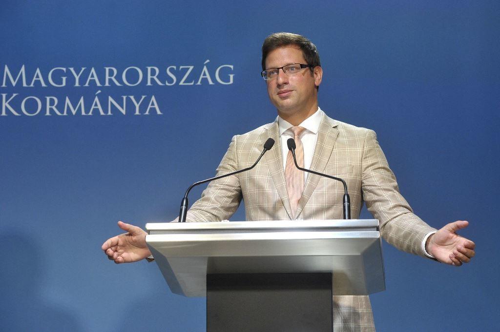Gulyás Gergely Miniszterelnökséget vezető miniszter sajtótájékoztatója 2018. augusztus 14-én.