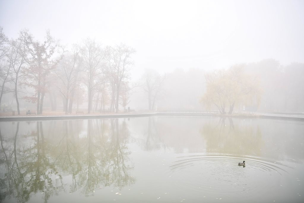 Köd Debrecenben.