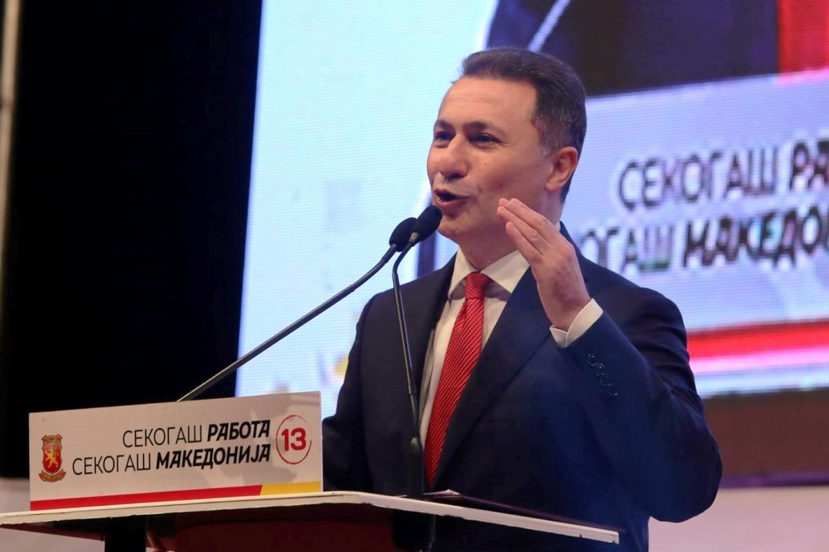 Megkapta Gruevszki a menekültstátuszt