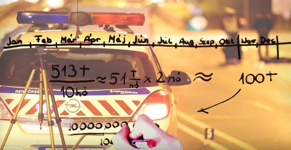 Részlet a rendőrség videójából.
