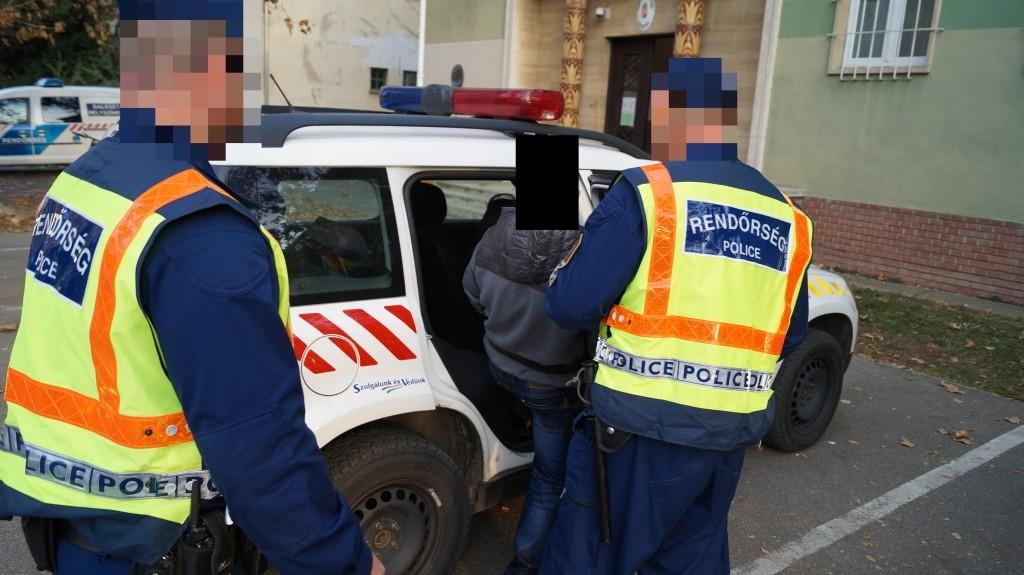 A rablással gyanúsítottak elfogása