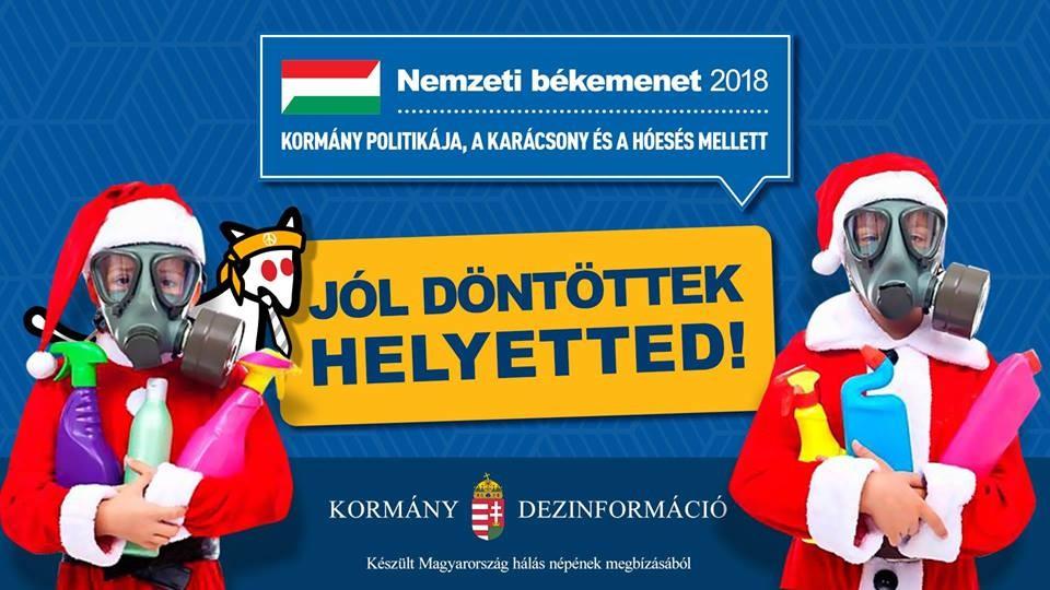Összkarácsonyi békemenetet szervez a Magyar Kétfarkú Kutya Párt