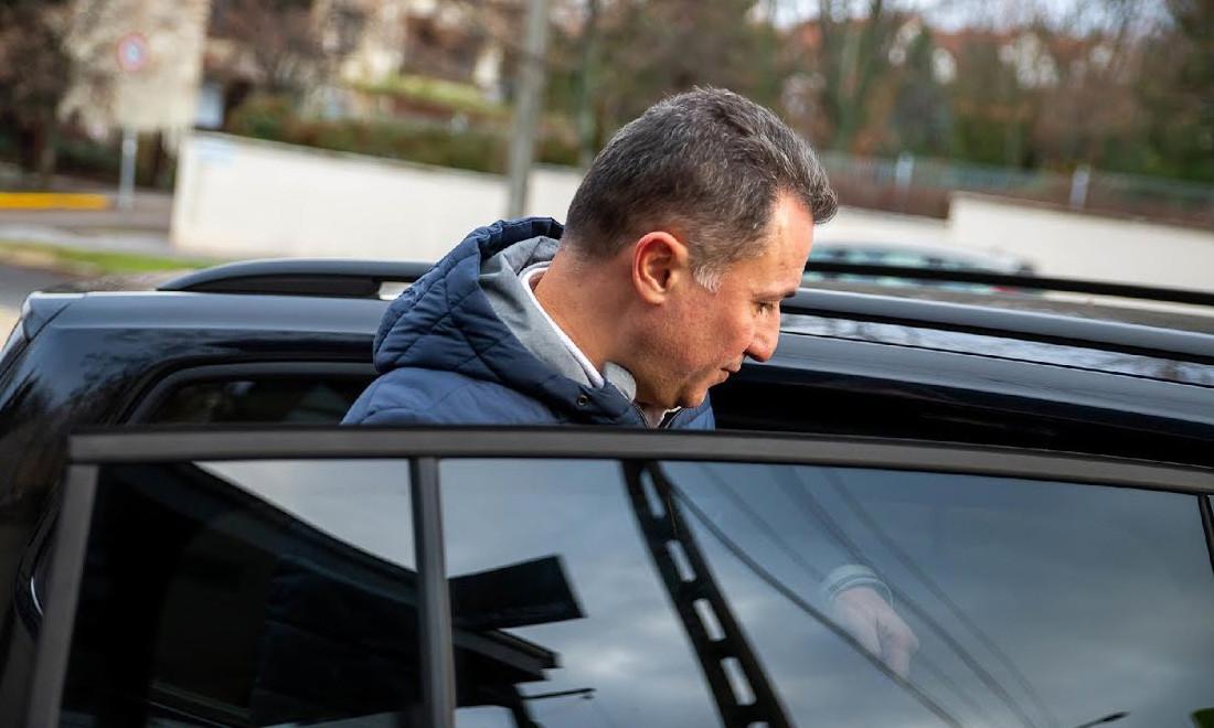 Rózsadombi luxusétteremben kapták le ma Gruevszkit, videón, ahogy elhajtott
