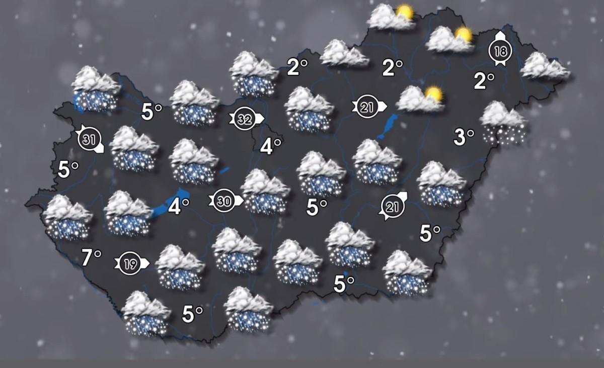 Hidegörvény érkezésére figyelmeztet a meteorológiai szolgálat