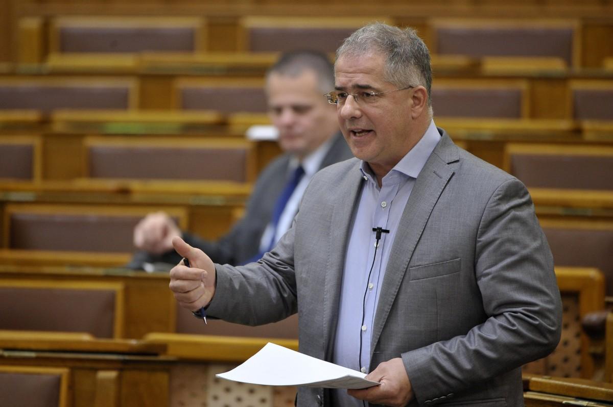 Kósa Lajos fideszes képviselő felszólal a munkaidő-szervezéssel és a munkaerő-kölcsönzés minimális kölcsönzési díjával összefüggő egyes törvények módosításáról szóló javaslat vitájában az Országgyűlés plenáris ülésén 2018. december 11-én.