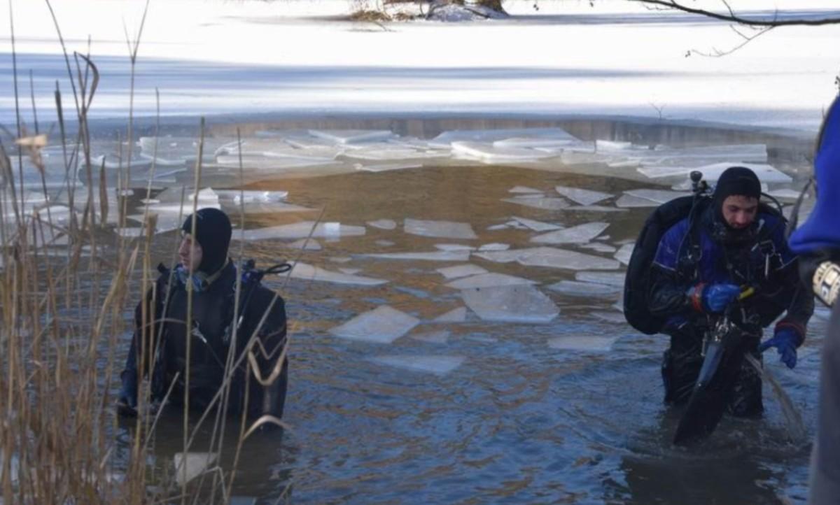 Jég alá szorult egy férfi Bárdudvarnokon.