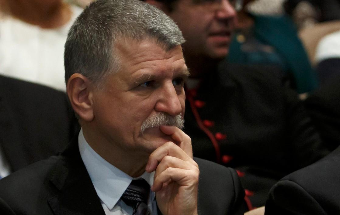 Kövér László, az Országgyűlés elnöke a Lenti várossá nyilvánításának 40. évfordulóján tartott ünnepségen a helyi művelődési központban 2019. január 5-én.