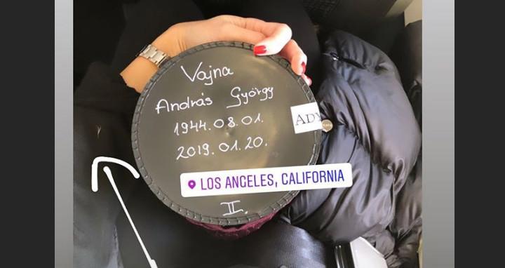 Vajna Tímea repülőre szállt Andy Vajna hamvaival