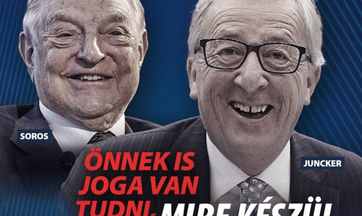 Orbánék lecserélik Junckert a plakáton, új társat kap Soros György