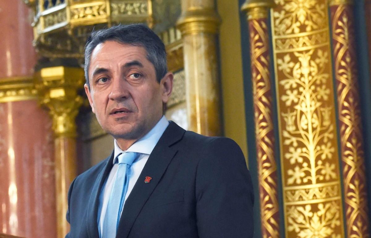 Potápi Árpád János, a Miniszterelnökség nemzetpolitikáért felelős államtitkára sajtótájékoztatót tart a külhoni magyar gyermekek éve programsorozatról az Országházban 2019. február 12-én.