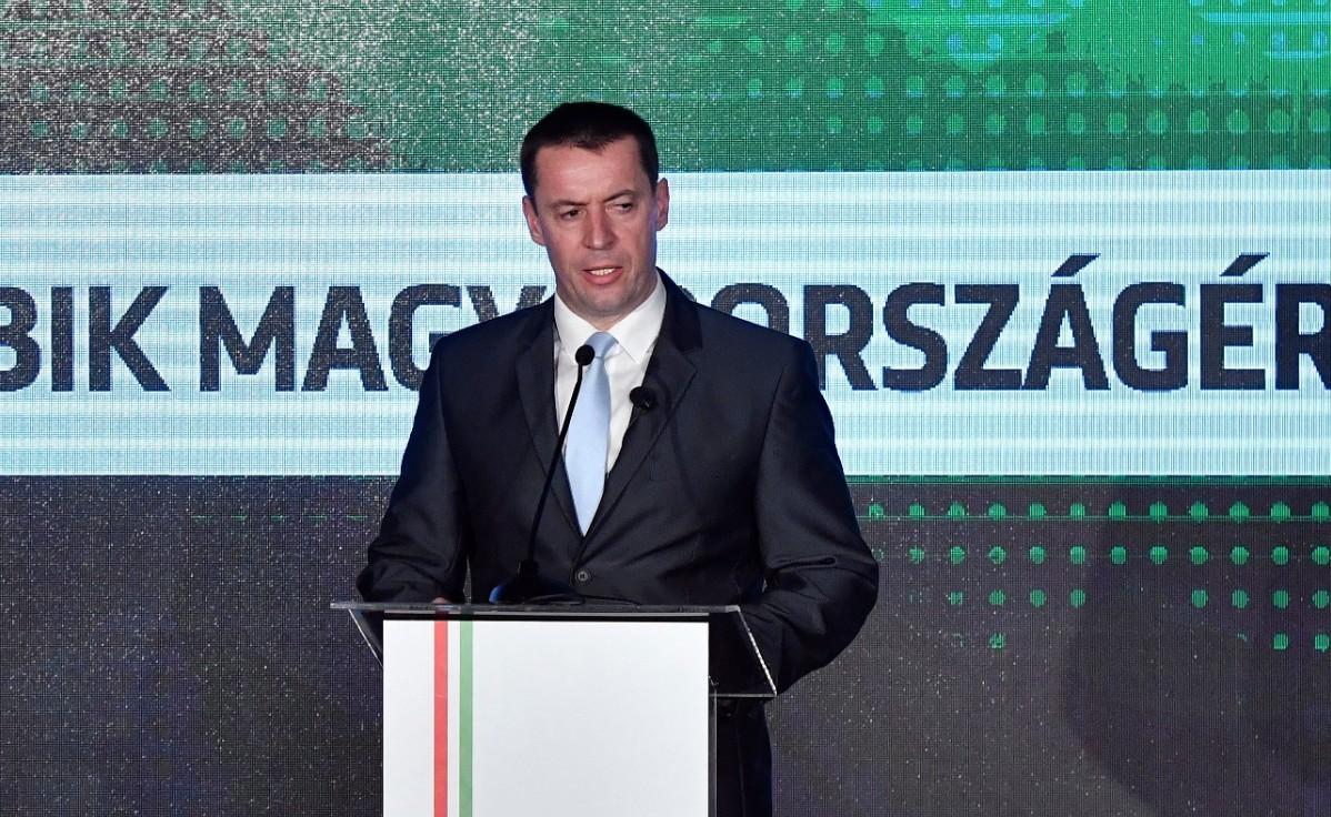 Sneider Tamás, a Jobbik elnöke a párt évadnyitó rendezvényén a budapesti Dürer Kertben 2019. február 2-án.