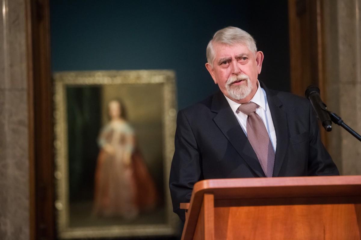 Kásler Miklós, a nemzeti erőforrások minisztere beszél a Szépművészeti Múzeumban tartott sajtótájékoztatón 2019. február 19-én.