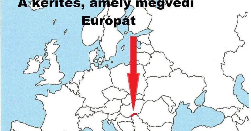 A kerítés, amely megvédi Európát a migránsáradattól.