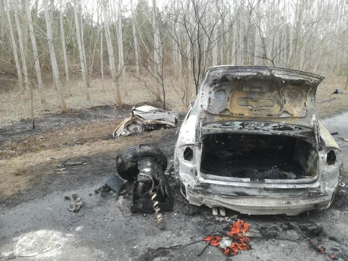 Baleset a 81-es úton Mezőörsnél, ahol hét ember életét vesztette 2019. március 10-én.
