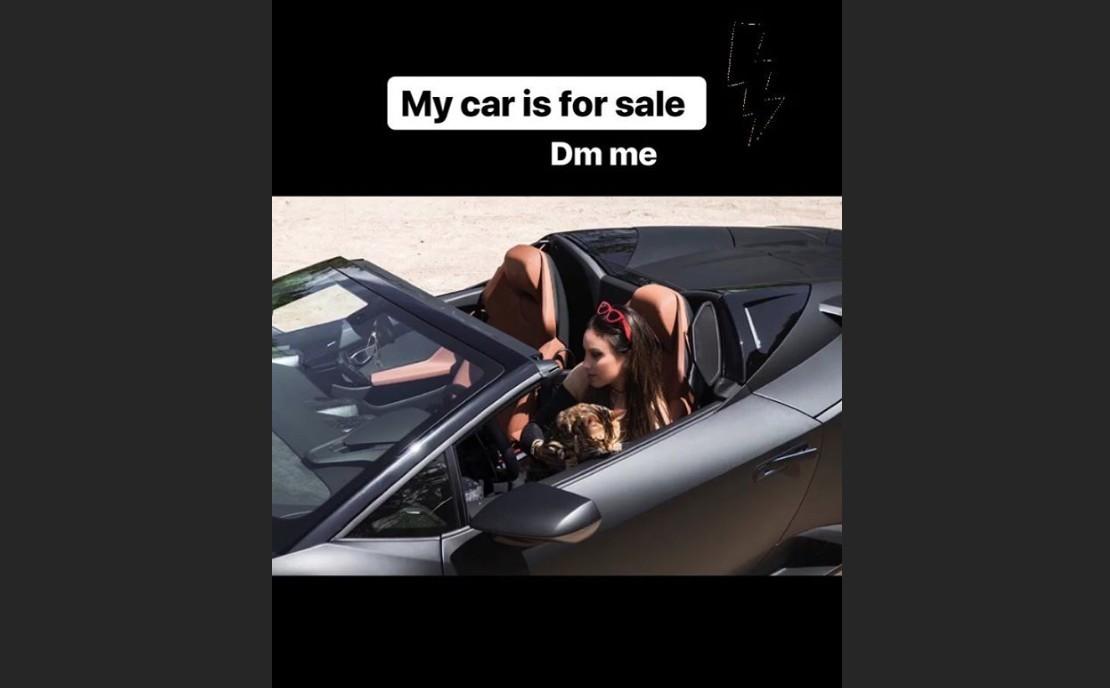 Vajna Tímea Instagramon árulja a Lamborghinijét