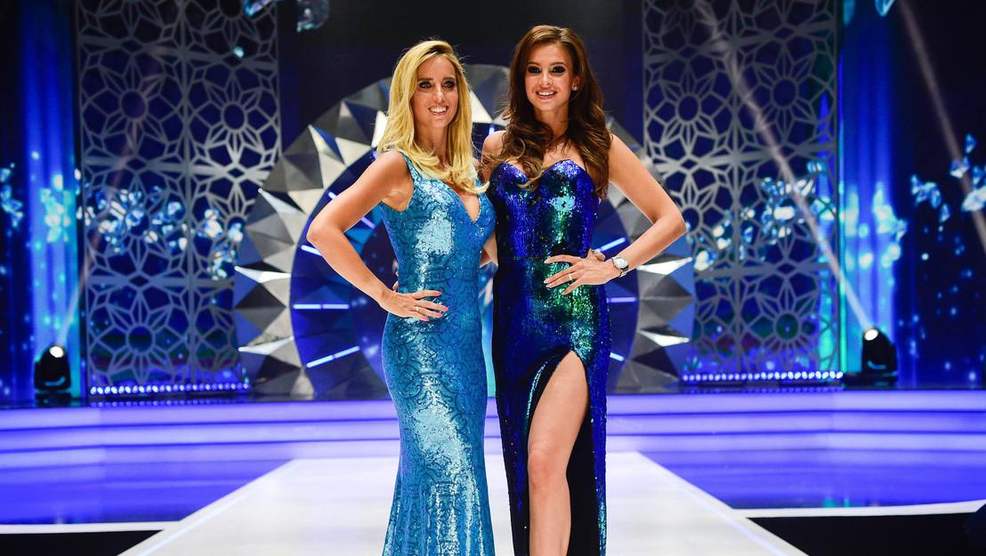 Rogán Cecília és Sarka Kata a Magyarország Szépe - Miss World Hungary döntőjén 2018. július 8-án.