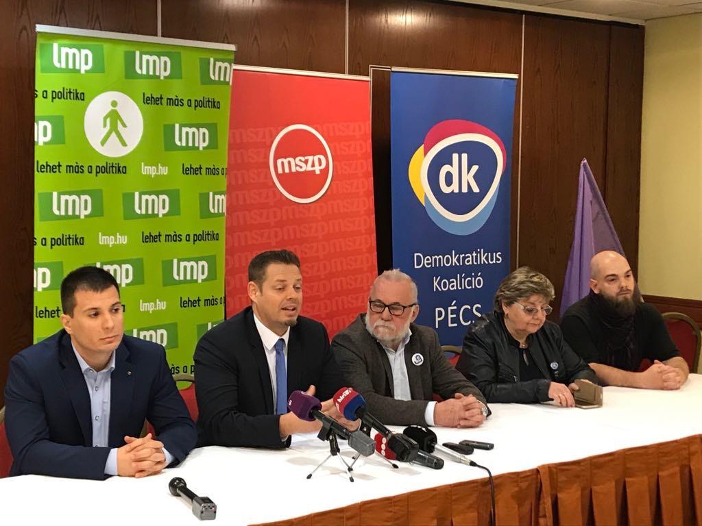 Közös képviselőjelölteket indít Pécsett az ellenzék az önkormányzati választáson.