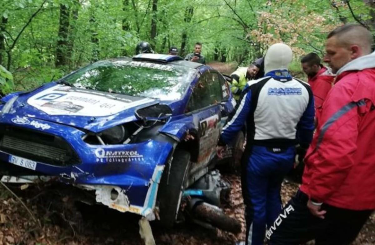 Majdnem saját halálát vette videóra egy néző a Miskolc Rallye-n