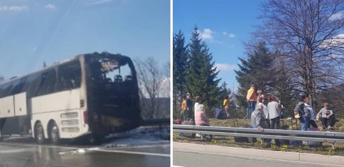 Kiégett egy magyarokat szállító autóbusz Horvátországban