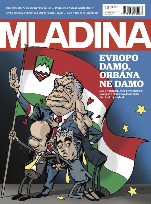 A Mladina címlapja, ami kiverte a biztosítékot.