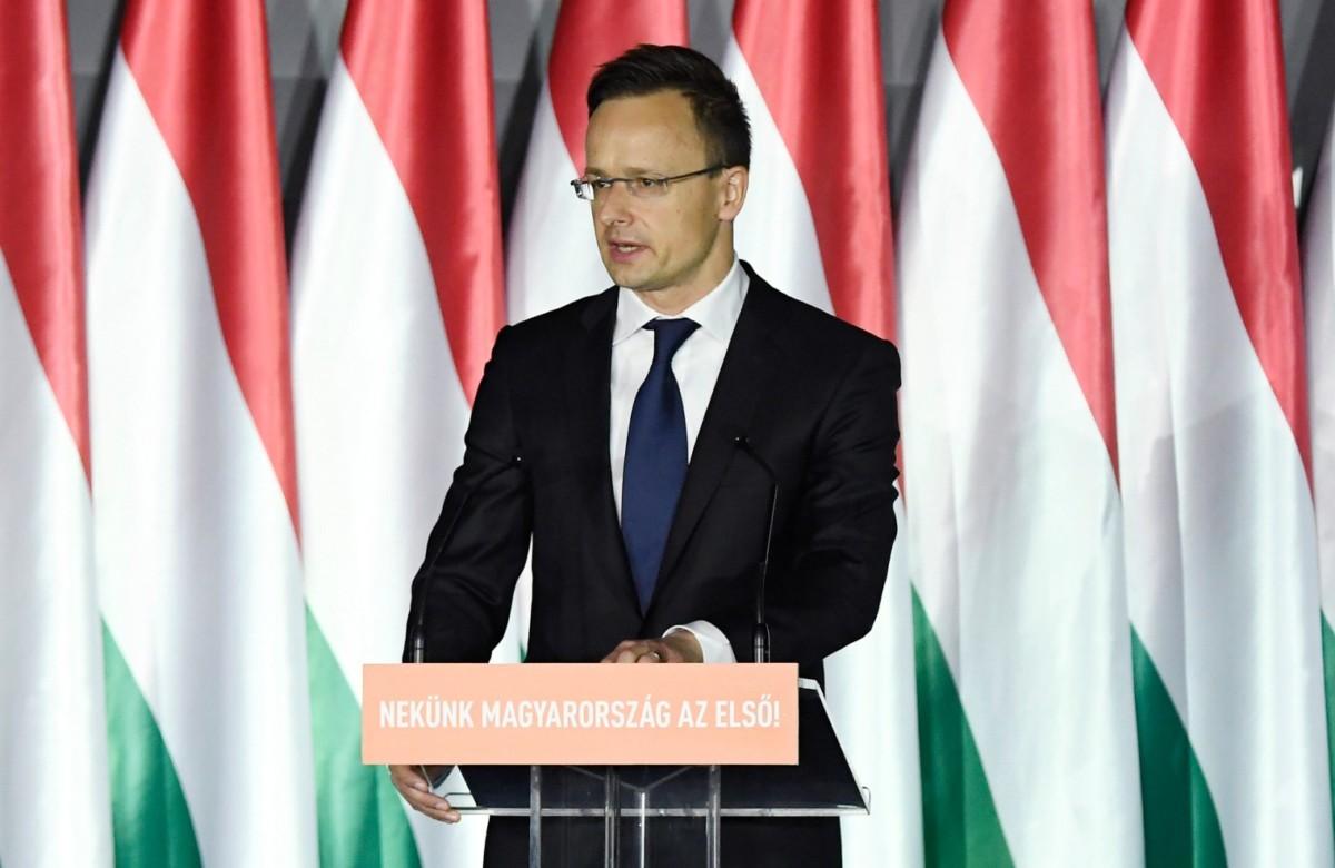 Szijjártó Péter külgazdasági és külügyminiszter beszédet mond a Parlamenti Szalon című rendezvényen a Bálna Budapest rendezvényközpontban 2019. április 5-én.