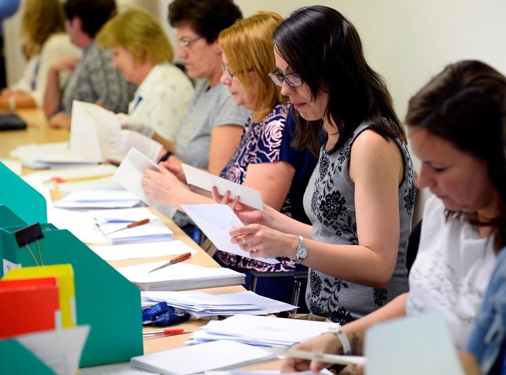 A Nemzeti Választási Irodában este 7 órakor, a szavazóhelyiségek bezárása után megkezdték az irodához érkezett csaknem 40000 levélszavazat felbontását és a szavazólapok szkennelését az Alkotmány utcai székházában az EP-választás napján, 2019. május 26-án.