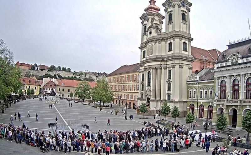 Hatalmas tömeg állt sorban két tő ingyen muskátliért Egerben