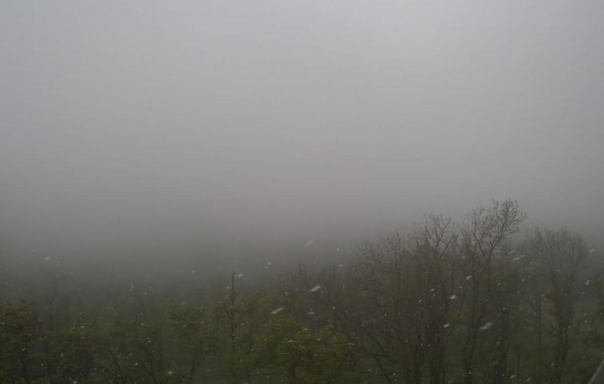 A Kendig-csúcson lévő webkamera képe 2019. május 5-én.