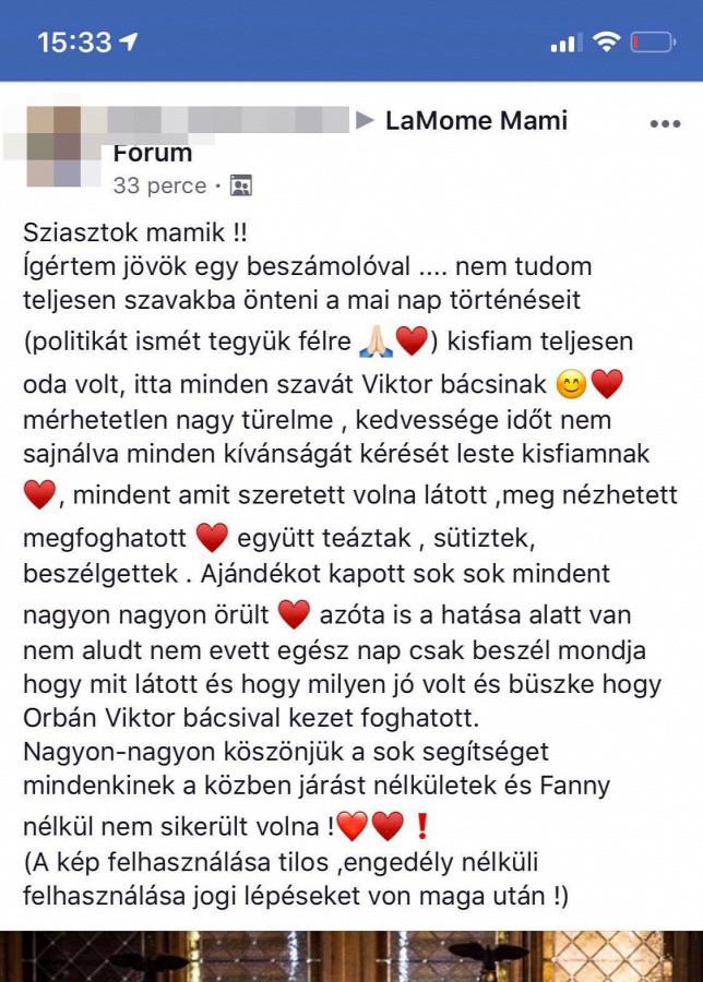 Megszólalt az anyuka, aki Orbánnal ünnepeltette 3 éves kisfiát