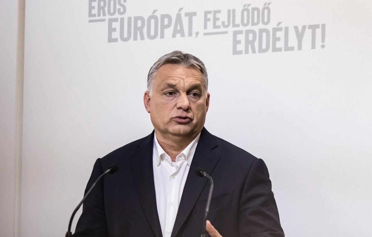 Orbán Viktor miniszterelnök Kolozsváron 2019. május 8-án.