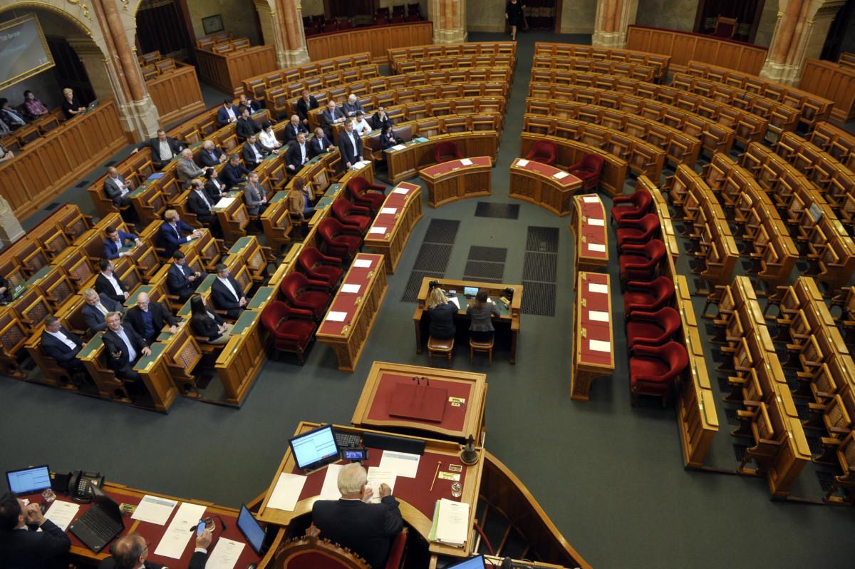 Tóth Bertalan, az MSZP frakcióvezetője felszólal napirend előtt az Országgyűlés rendkívüli plenáris ülésén 2019. május 17-én.
