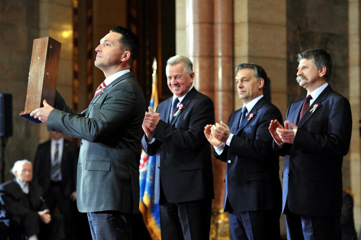Kovács Ákos a 2012-es Kossuth-díjak átadóján.