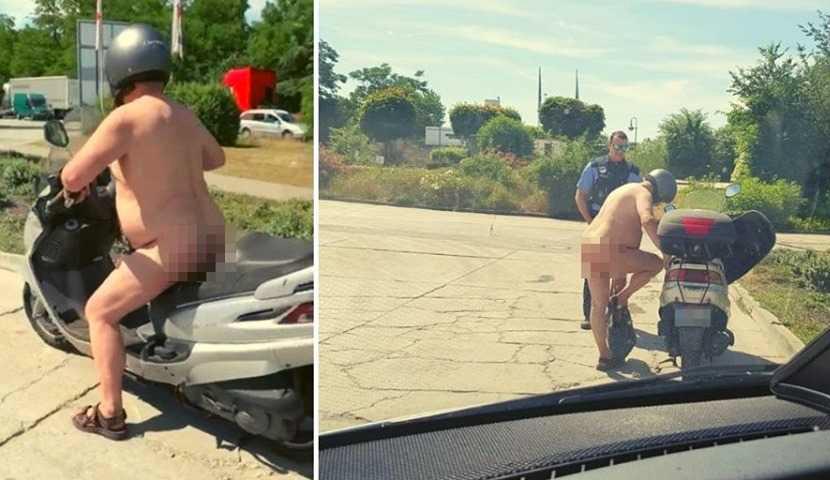 Egy szál pöcörőben motorozó férfit kapcsoltak le a német rendőrök a forróságban