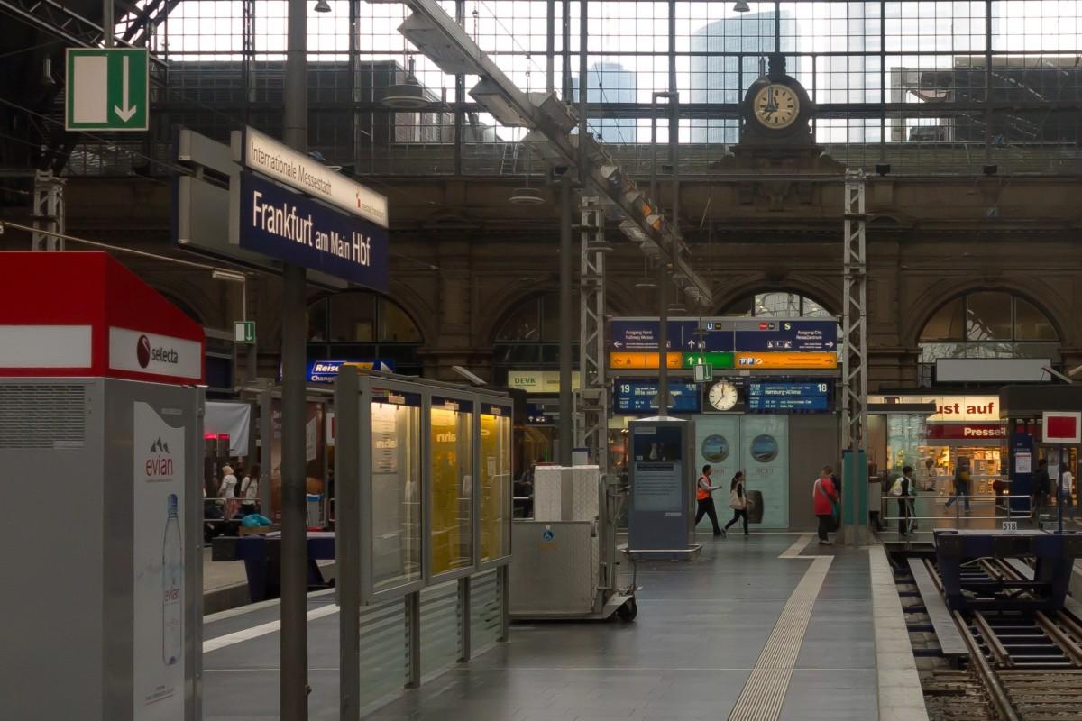 A frankfurti főpályaudvar.