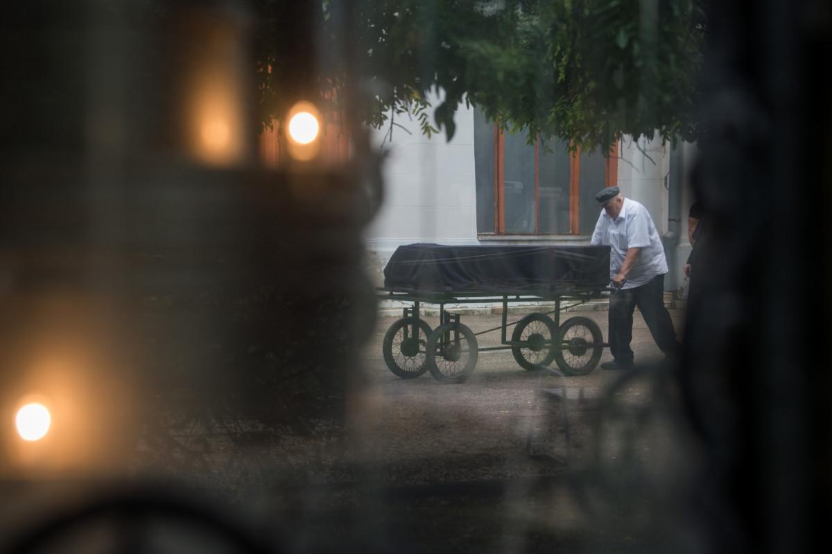 Heller Ágnes temetése a budapesti Kozma utcai izraelita temetőben 2019. július 29-én.