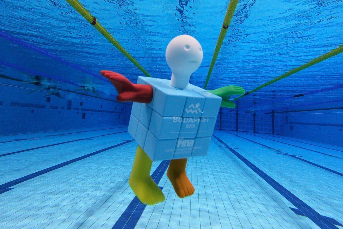 Bemutatták a budapesti junior úszó-vb kabaláját