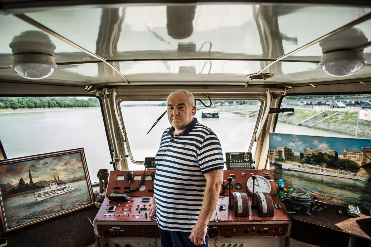 Dajka Laszló, a Monarchia rendezvényhajó kapitánya Budapesten 2019. június 24-én.