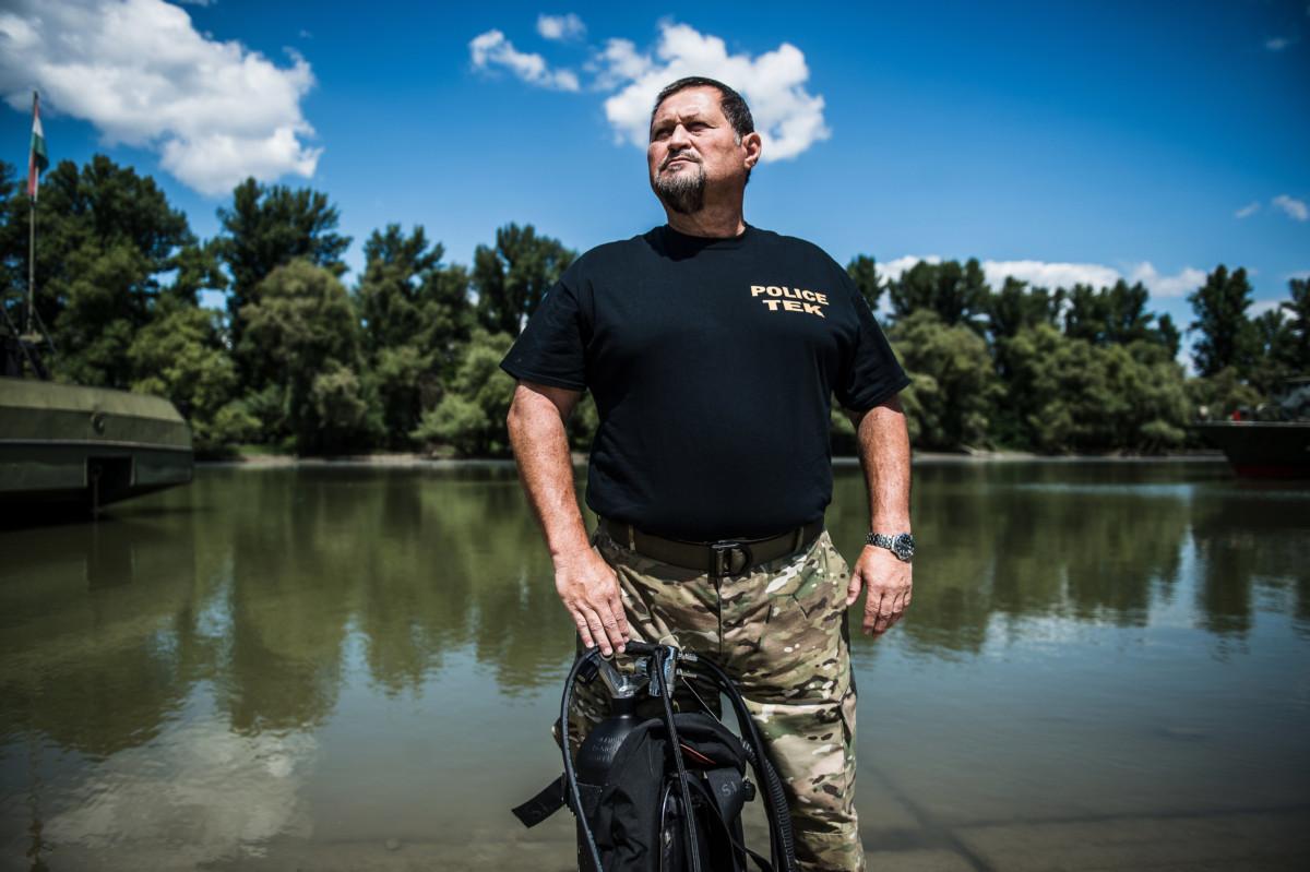 Szebeni Lehel ezredes, a Terrorelhárítási Központ (TEK) műveleti igazgatóságának főtanácsadója Budapesten, az MH Hadikikötőben 2019. július 10-én.