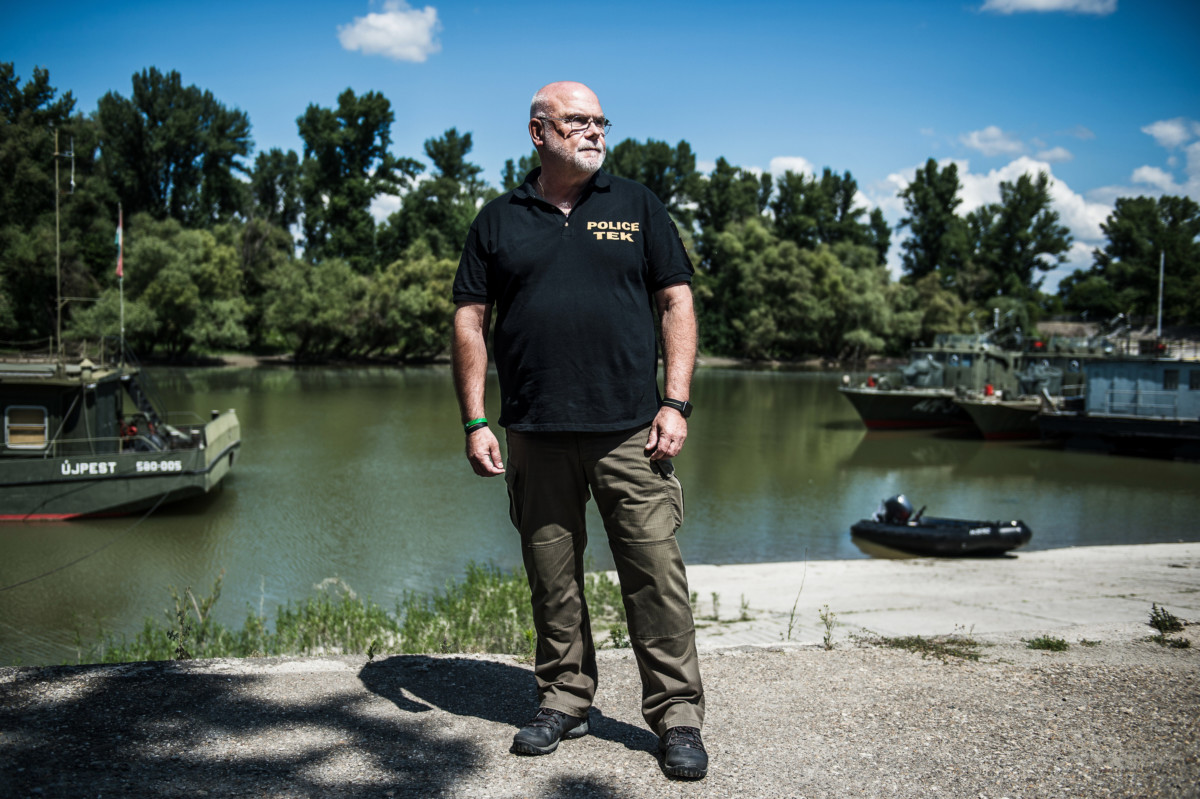 Jasenszky Nándor, a Terrorelhárítási Központ (TEK) társadalmi kapcsolatok osztályának vezetője Budapesten, az MH Hadikikötőben 2019. július 10-én.