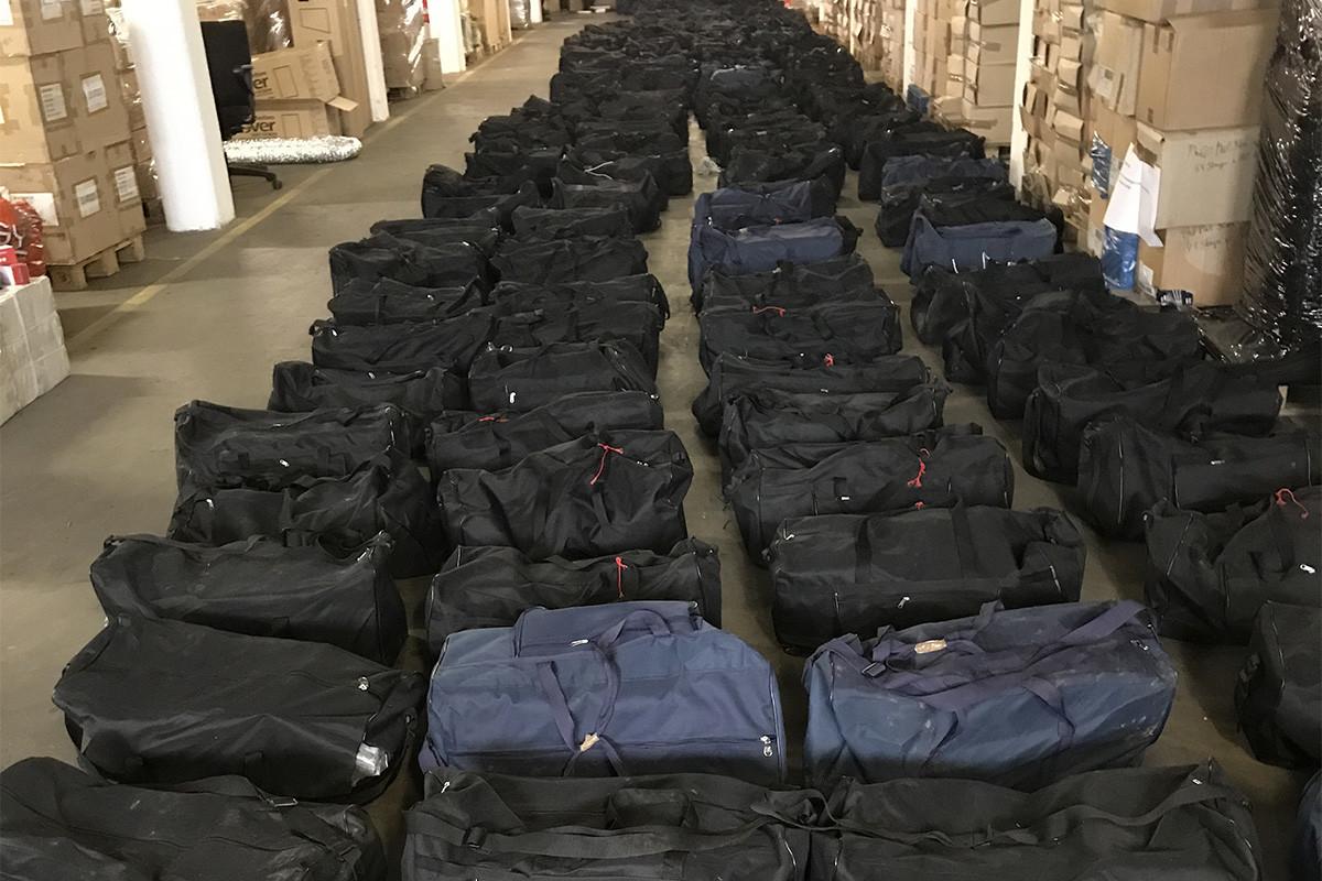 4,5 tonna kokain 211 sporttáskában.