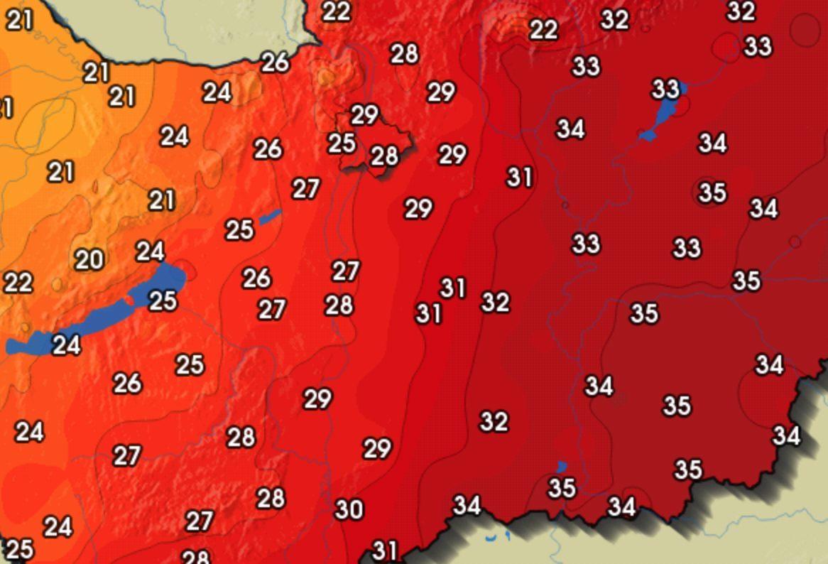 17 fokos hőmérséklet-különbség van az országon belül