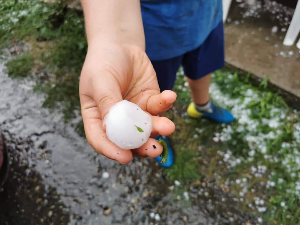 Szőlősardó a vihar után 2019. augusztus. 13-án.
