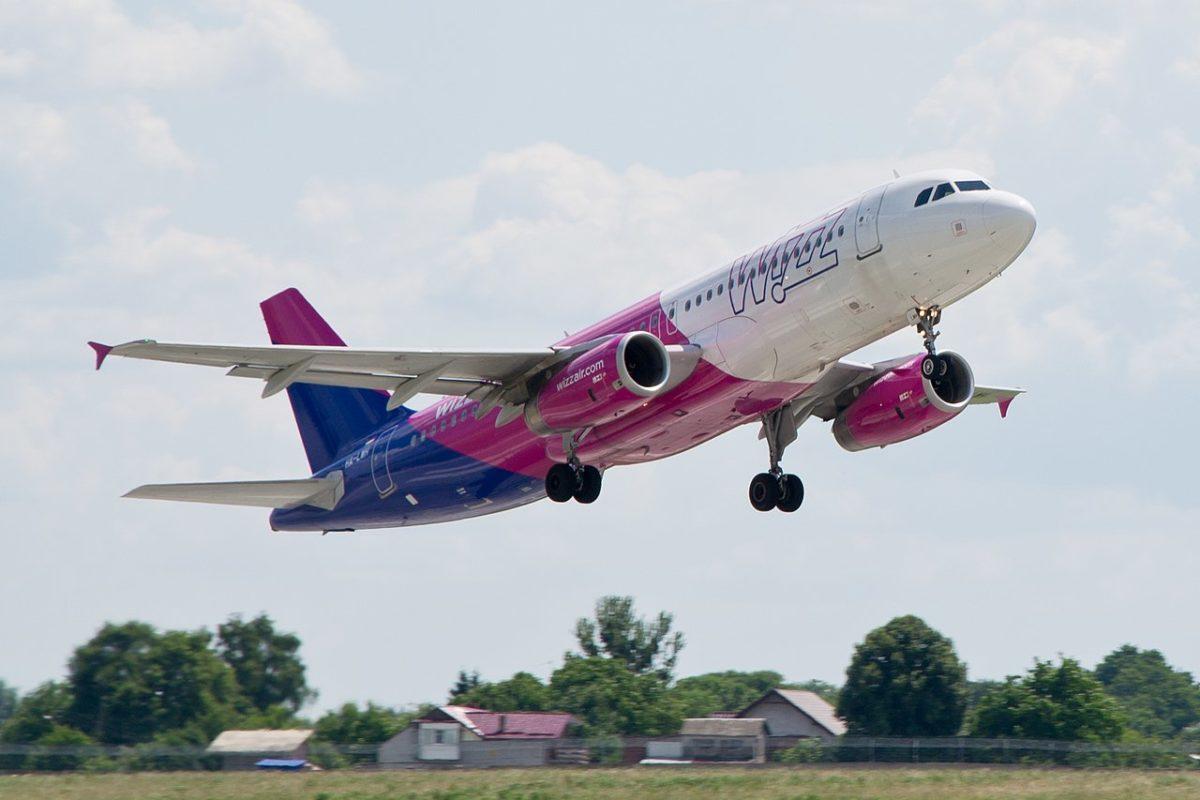 A WizzAir egyik gépe.