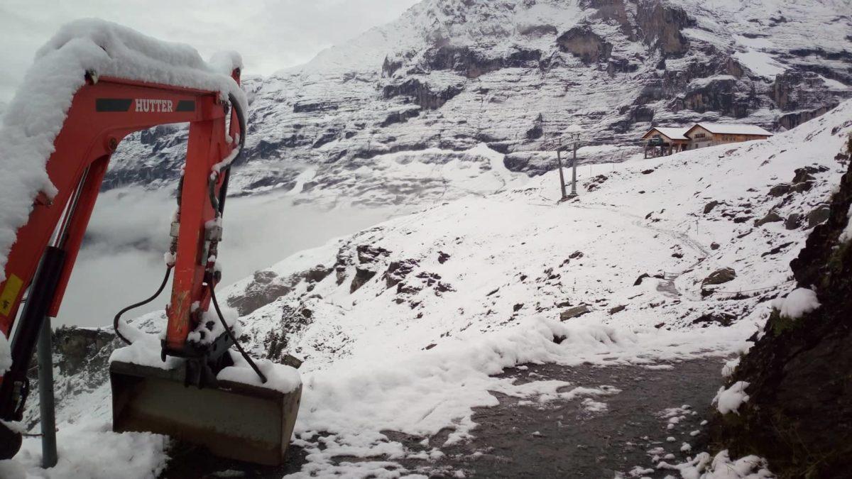 Havazás a svájci Kleine Scheidegg hágónál.